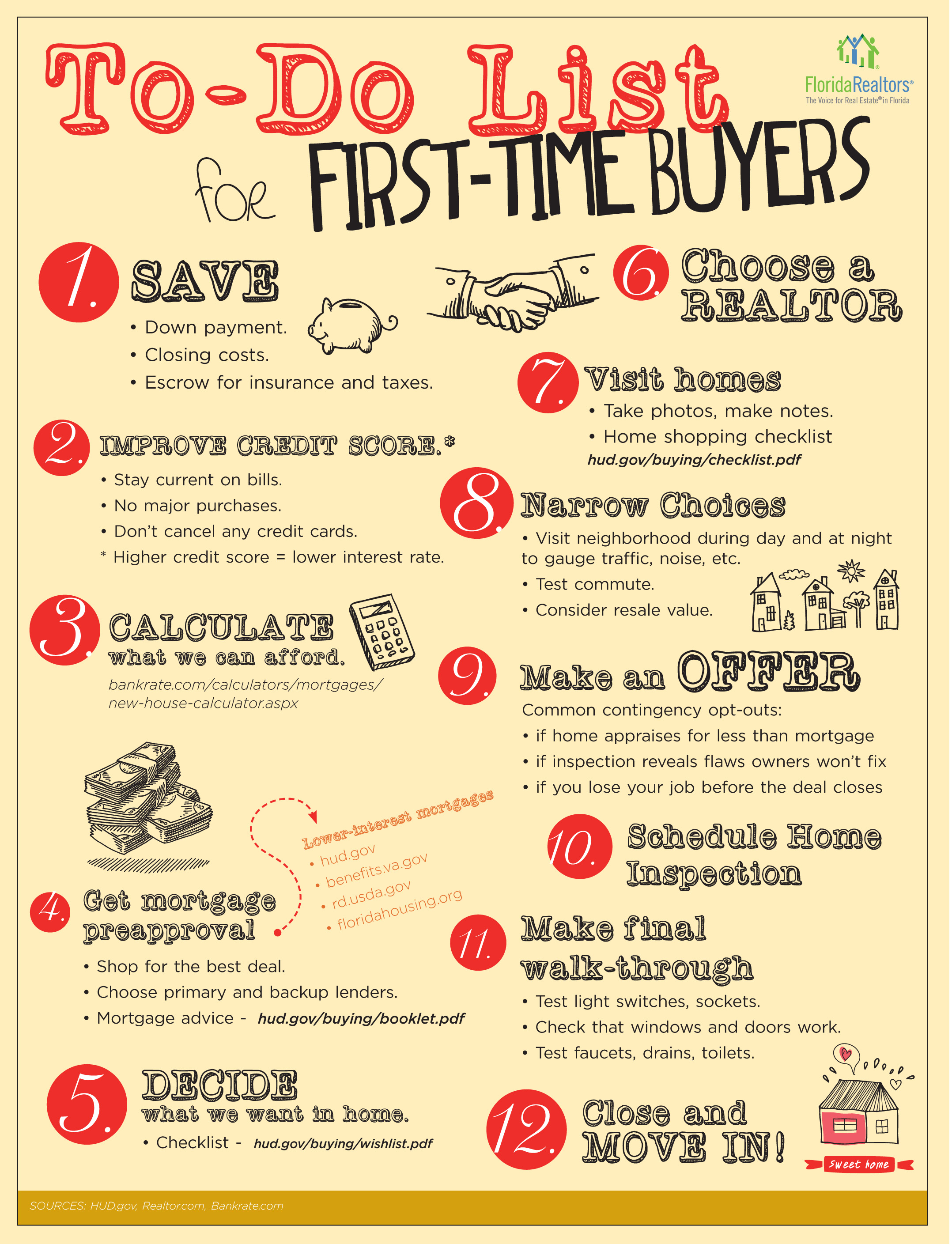 First Time Home Buyer To Do List