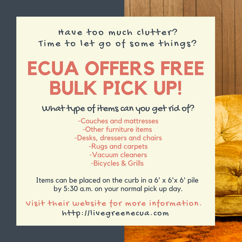 ECUA offers free bulk pick up in Pensacola, Florida
