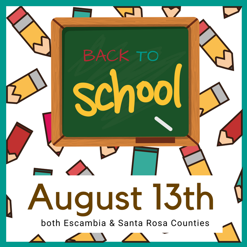 Pensacola, Florida back to school