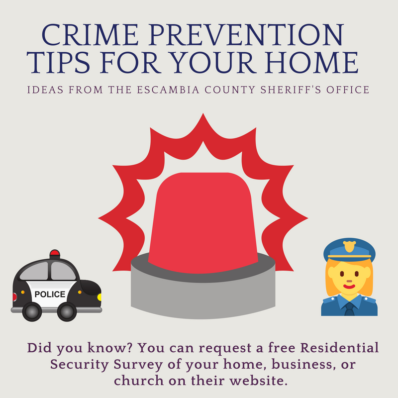 crime prevention tips pensacola florida