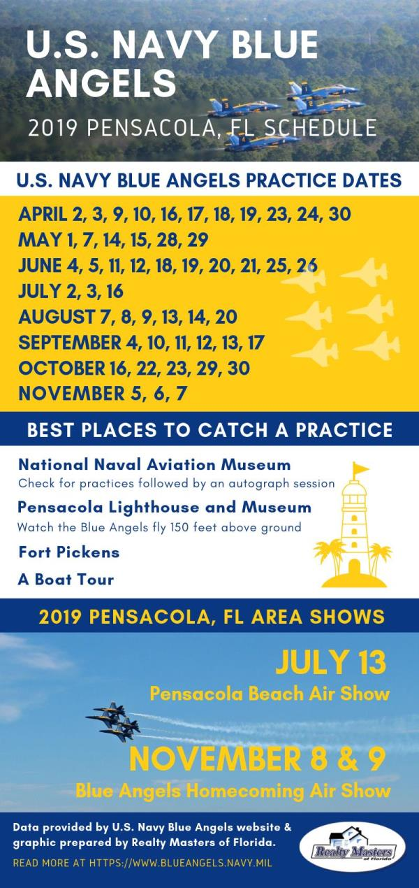 blue angels 2019 pensacola, florida schedule